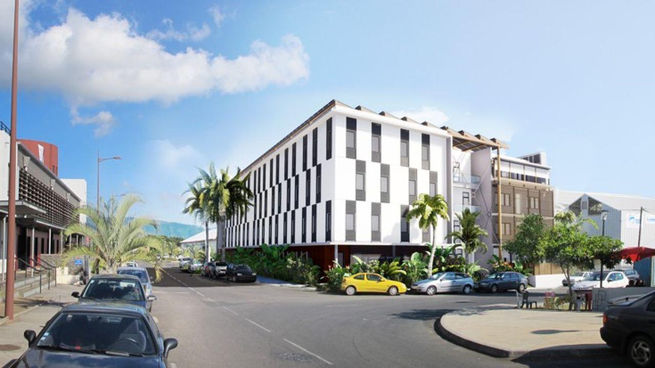 Le futur centre de santé mentale de La Mare, un quartier d'affaires près de Saint-Denis.