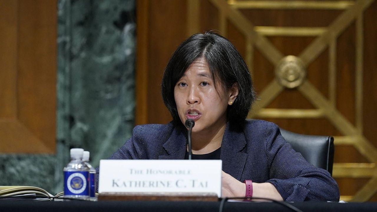 La représentante au commerce américain, Katherine Tai, a annoncé mardi le retour des Etats-Unis dans les discussions sur le commerce des services.