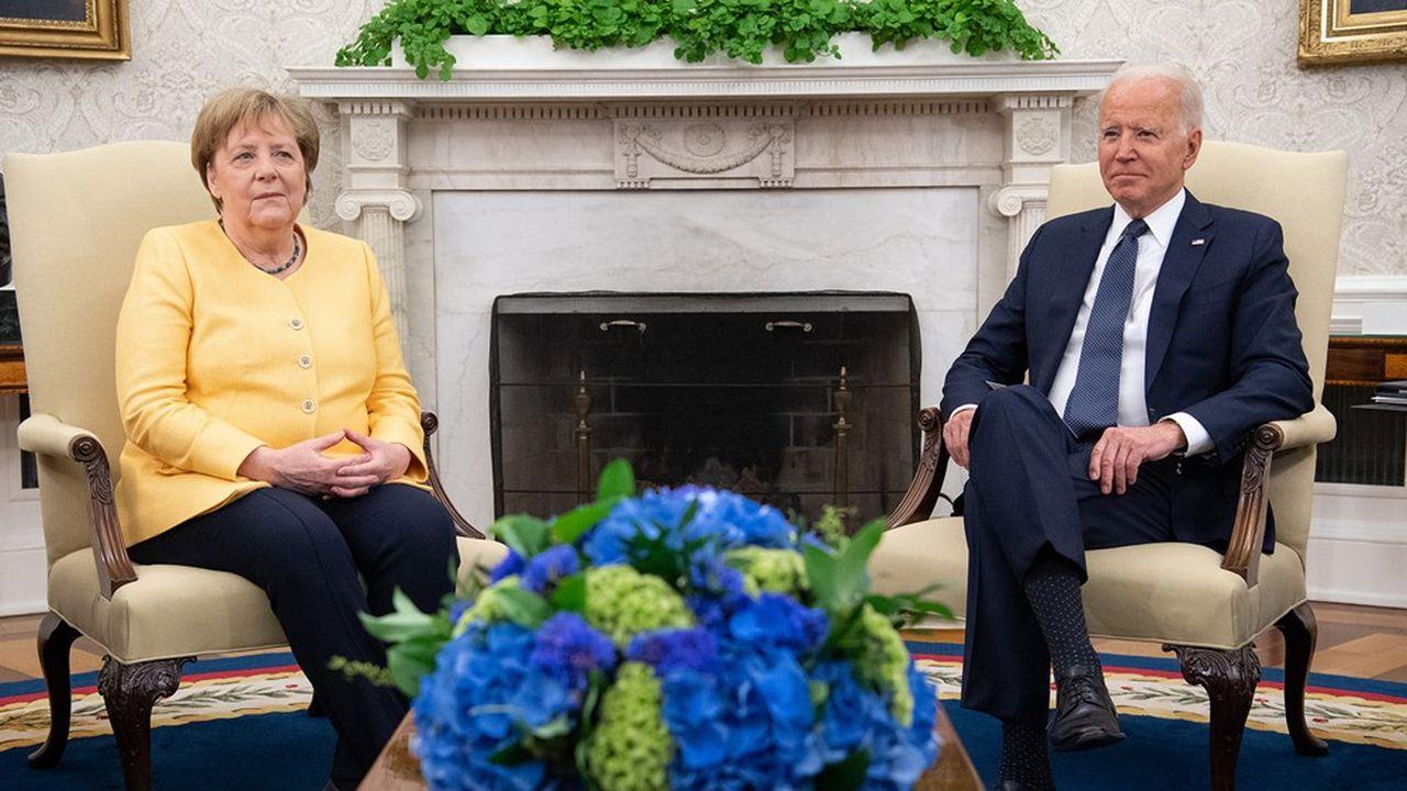 Lors de leur rencontre à la Maison-Blanche le 15juillet, Angela Merkel et Joe Biden ont évoqué le dossier Nord Stream et affichéleur résolution de ne pas laisser Moscou utiliser l'énergie comme une arme.