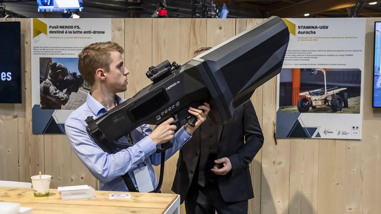 MC2 Technologies a mis au point le fusil antidrone Nerod F5.