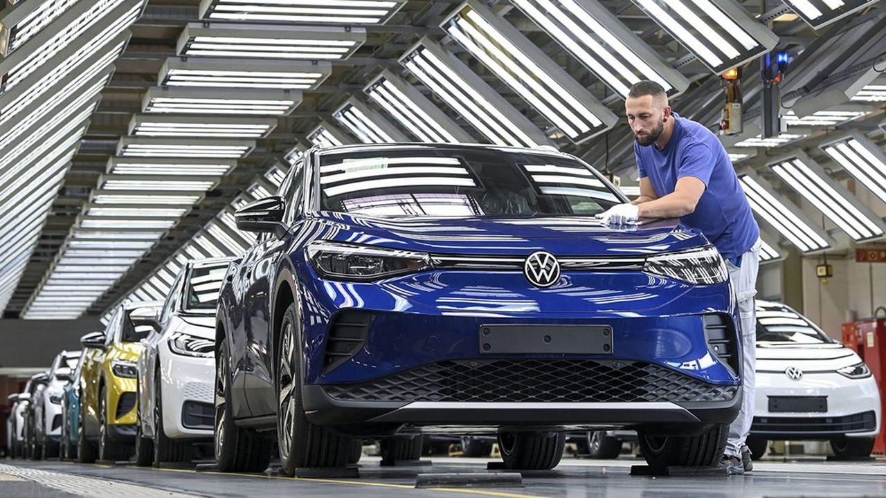 Le SUV électrique ID4 de Volkswagen s'est vendu à près de 38.000 unités au premier semestre 2021.