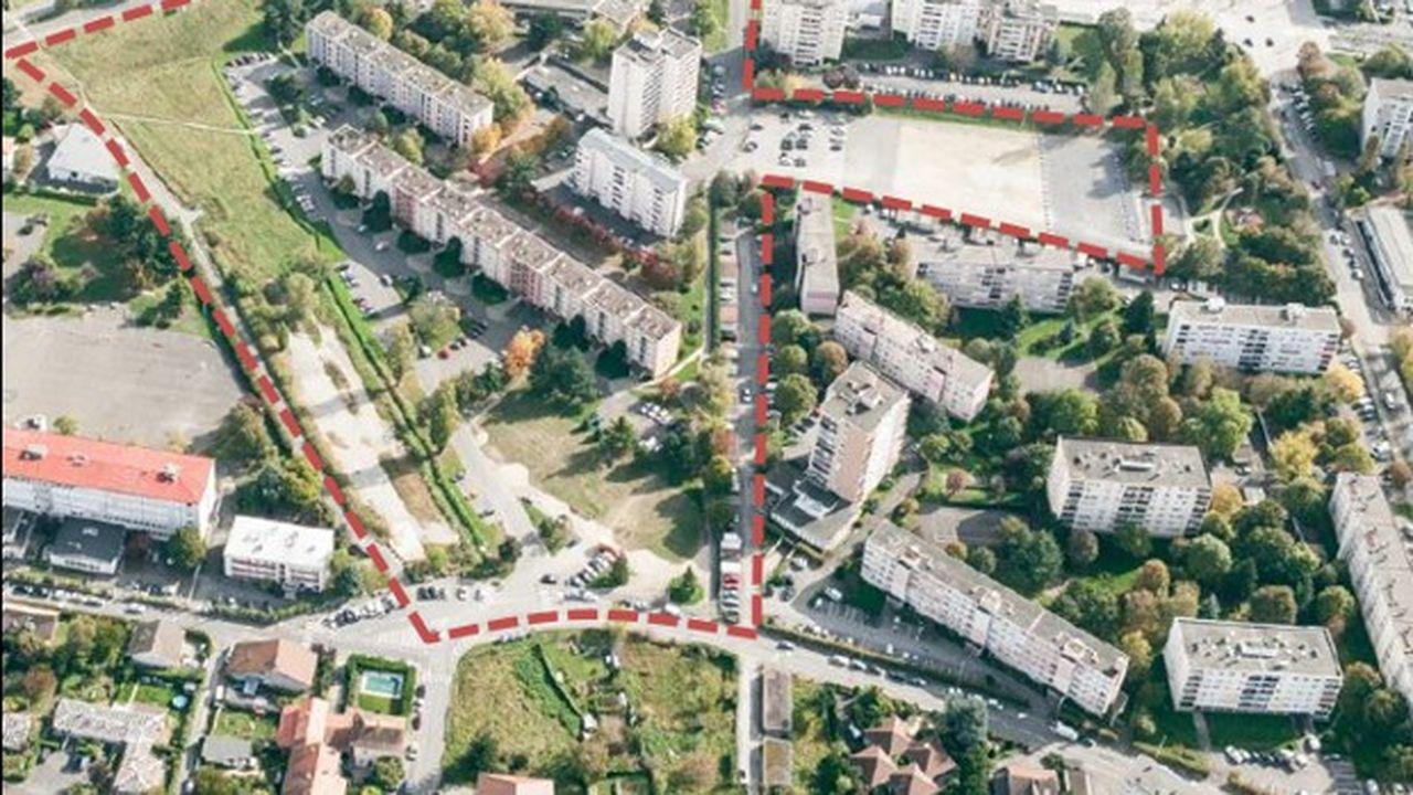 La ZAC Château Rouge s'étendra sur 55.000m2.