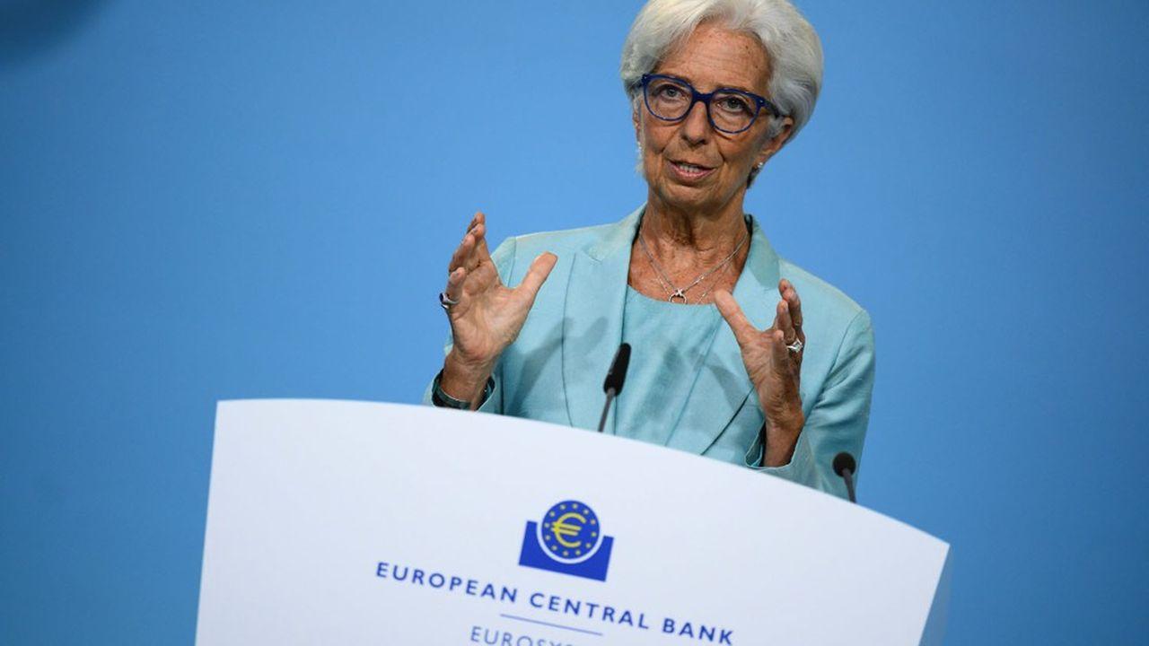 Christine Lagarde a confirmé, lors de la conférence de presse, que l'inflation constatée et pas seulement les prévisions, seraient prises en compte dans les décisions.
