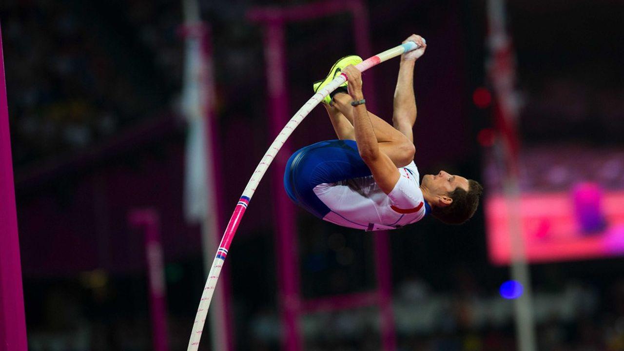 Renaud Lavillenie a remporté la médaille d'or des Jeux olympiques de Londres en 2012, avec un bond à 5,97m, nouveau record olympique et premier titre aux Jeux en athlétisme pour la France depuis 1996.
