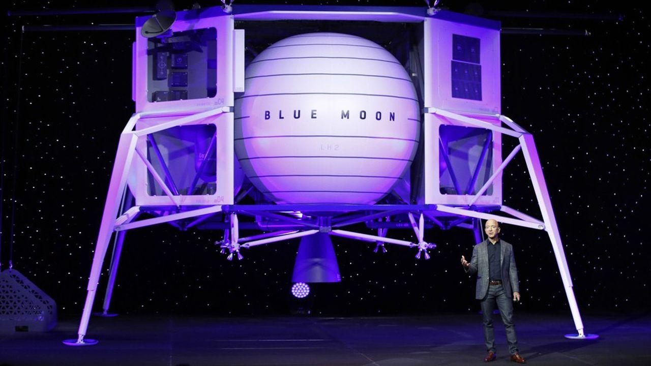 Jeff Bezos a présenté dès mai2019 son projet d'atterrisseur lunaire pour ramener des hommes sur la Lune à l'horizon 2.024 dans le cadre de la mission Artémis de la Nasa.