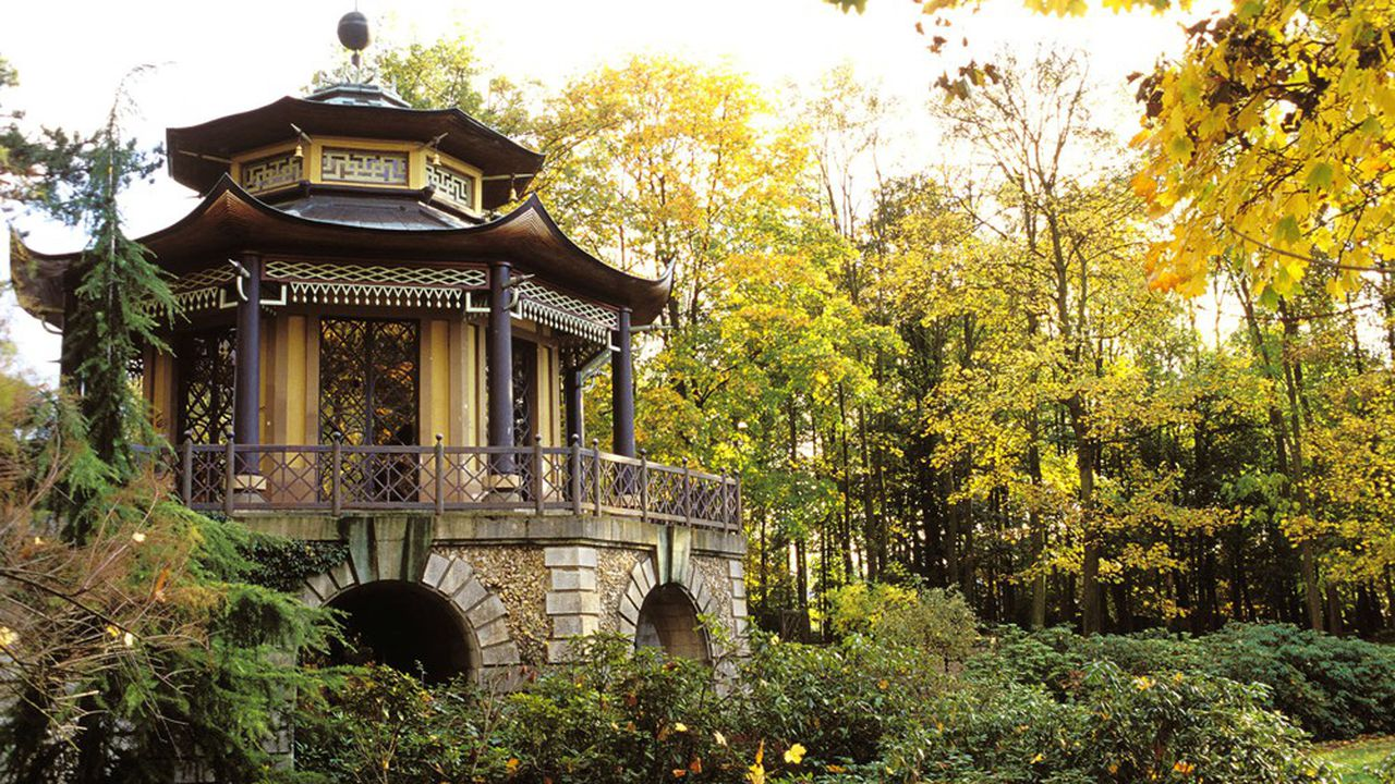 Le Pavillon chinois est la seule construction qui subsiste du grand projet de parc aménagé de Pierre-Jacques Bergeret, au XVIIIesiècle.