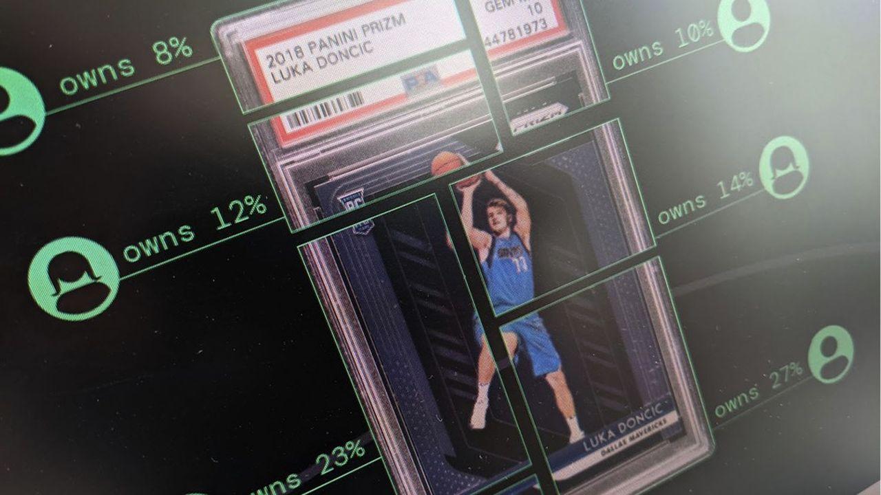 La plateforme Dibbs permet la division des cartes en plusieurs lots, qu'elle vend sous ma forme de NFT.