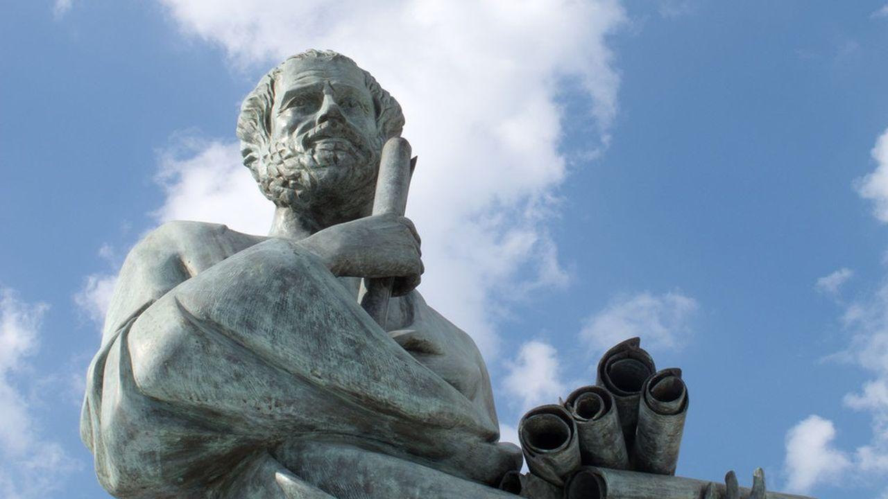 Statue d'Aristote, philosophe grec.
