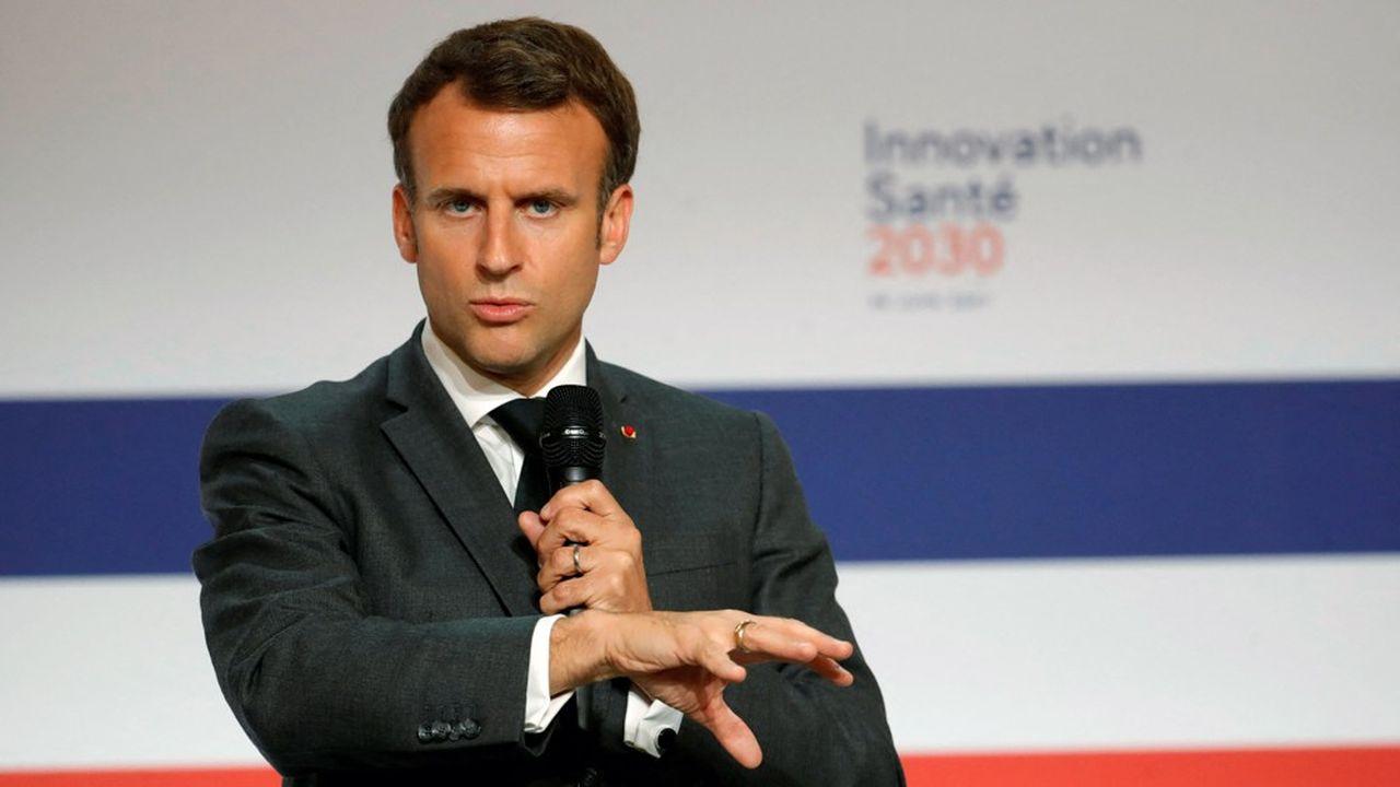 Emmanuel Macron a annoncé le 29juin 2021 un effort de 7milliards pour l'innovation en santé, qui vont bénéficier aux chercheurs, aux entrepreneurs et aux industriels.