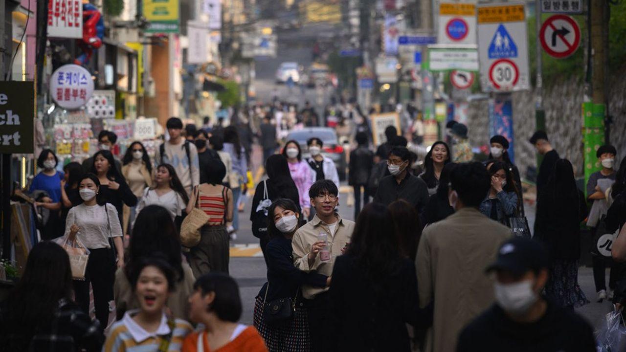 La population de Corée du Sud a progressé de 0,1% en 2020, l'une de ses plus faibles hausses jamais enregistrées.