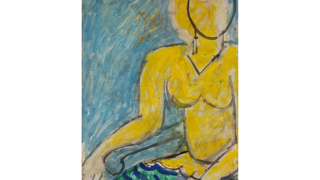 Katia en robe jaune - Inv. 2020.8.1