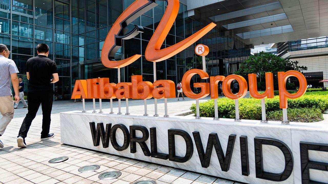 Bureau d'Alibaba à Shenzhen, dans le sud-est de la Chine. Cette plateforme chinoise d'e-commerce a été fondée en 1999 par l'entrepreneur Jack Ma.