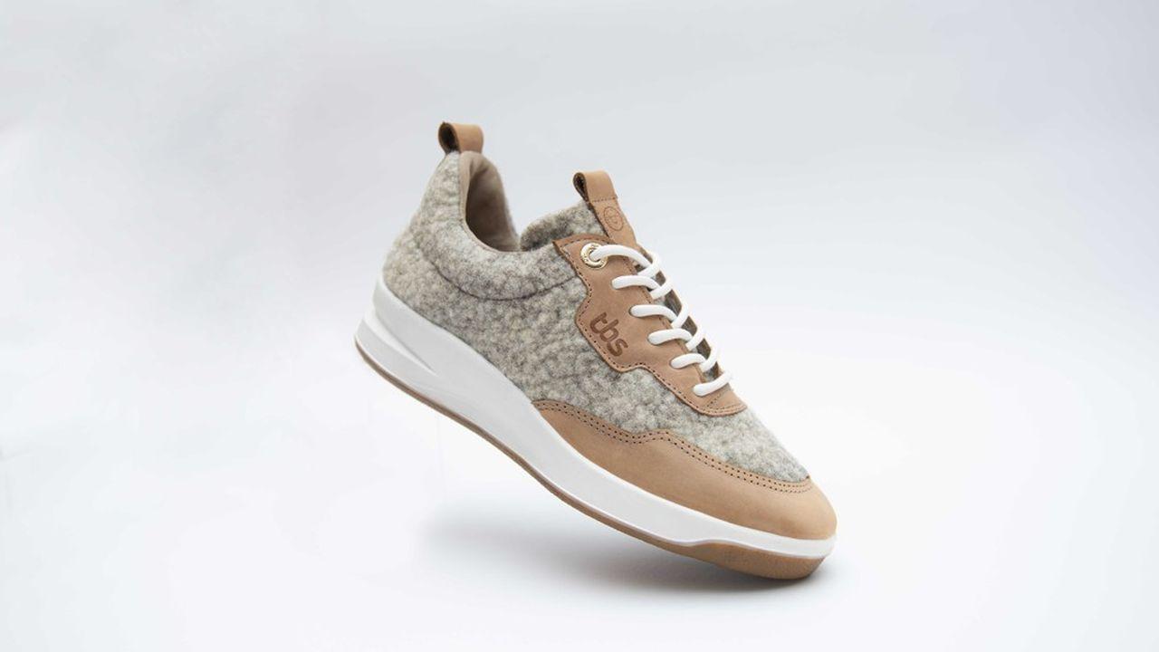 De la laine bretonne dans les chaussures de TBS