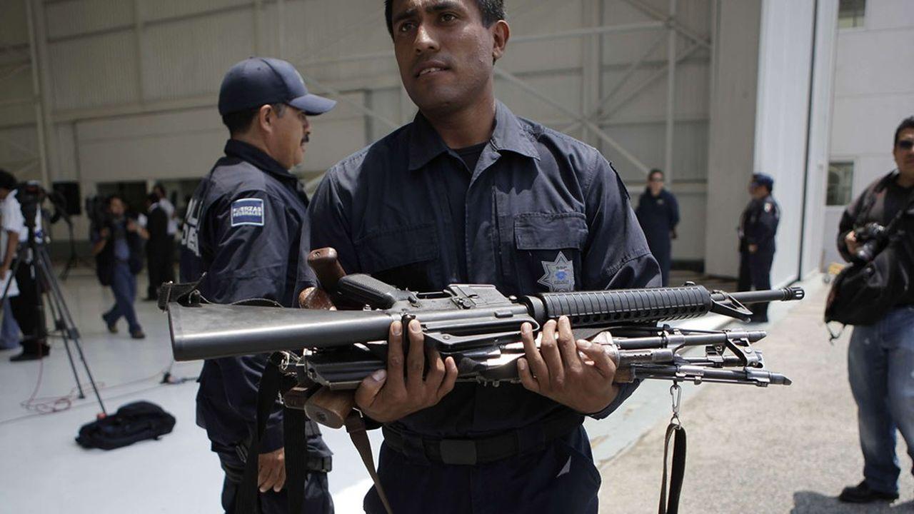 «Chaque année au Mexique, 340.000 armes américaines sont interceptées par les autorités policières.»