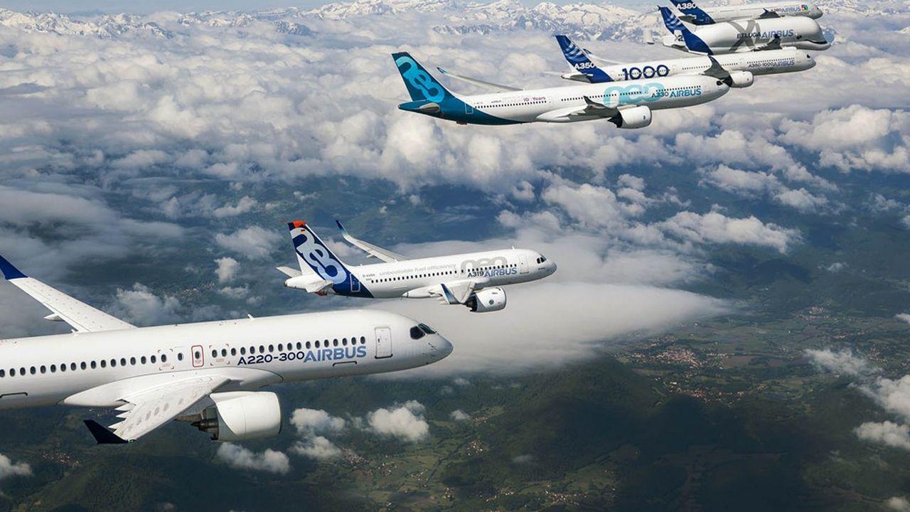 L'aéronautique - bon an, mal an, 12% des exportations françaises en temps normal - vend toujours moitié moins à l'étranger qu'avant la pandémie.