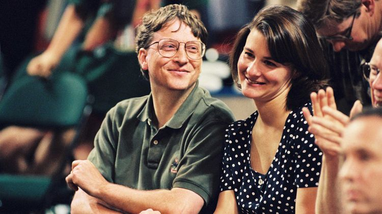 Bill and his wife at the Chicago Seattle basketball game in June 1996.