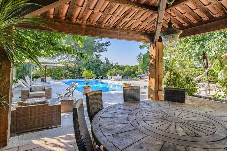 L'atout majeur de cette maison de charme est son extérieur : un terrain de 6.500 m2 composé de terrasses, d'une piscine et d'un court de tennis.