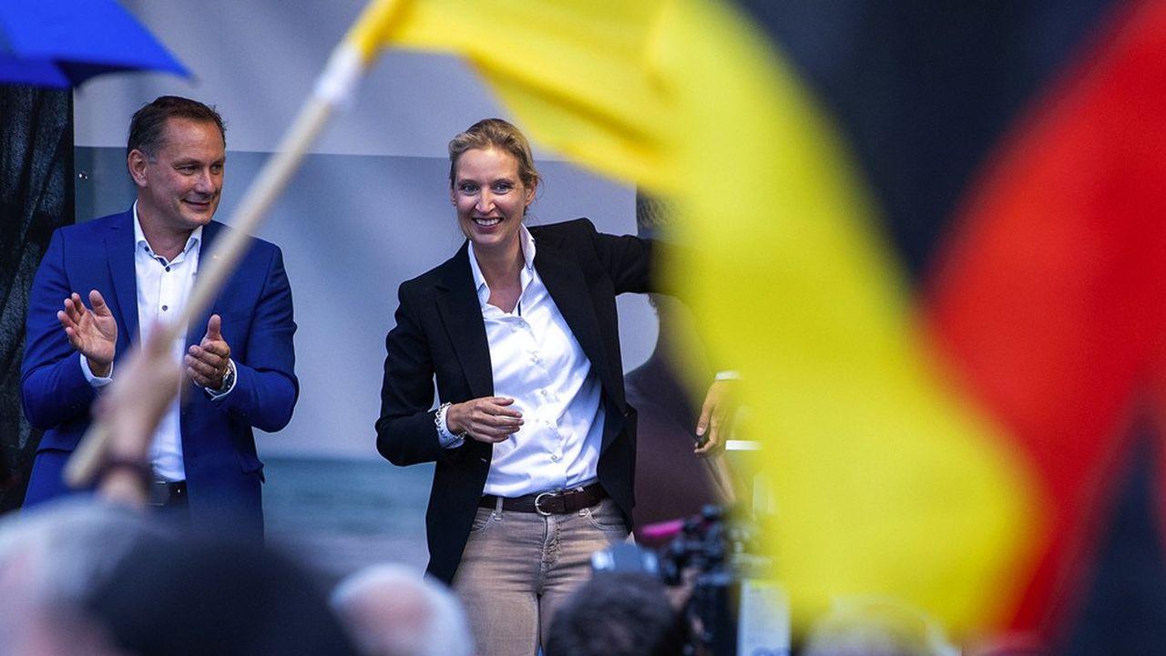 Les leaders de l'AfD, Alice Weidel et Tino Chrupalla, ont lancé leur campagne électorale avec un slogan recentré autour de ses électeurs traditionalistes: «L'Allemagne, mais normale»