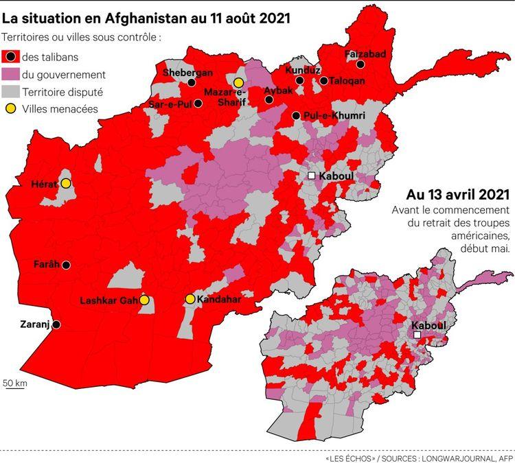 Les talibans contrôlent désormais 65% du territoire afghan.