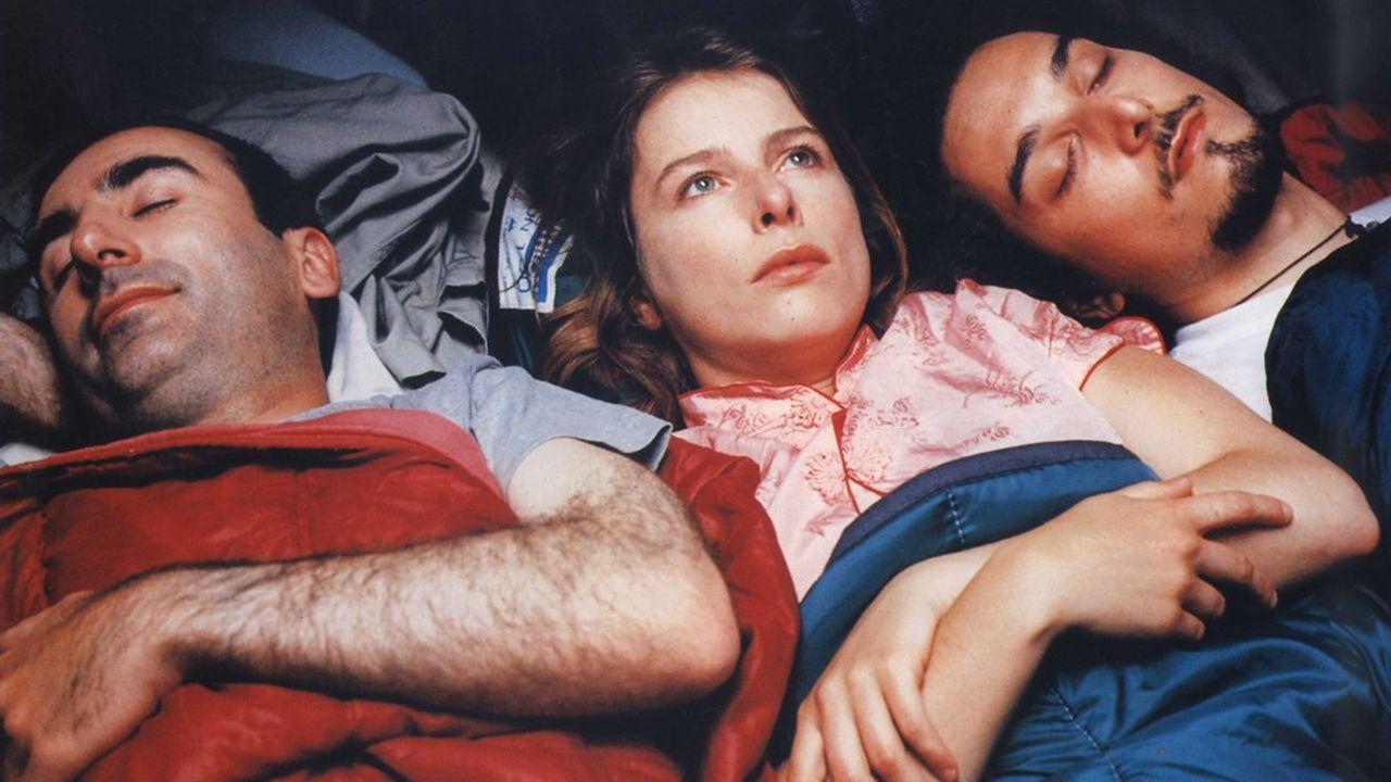 Philippe Harel, Karin Viard et Vincent Elbaz, sous la tente des «Randonneurs».