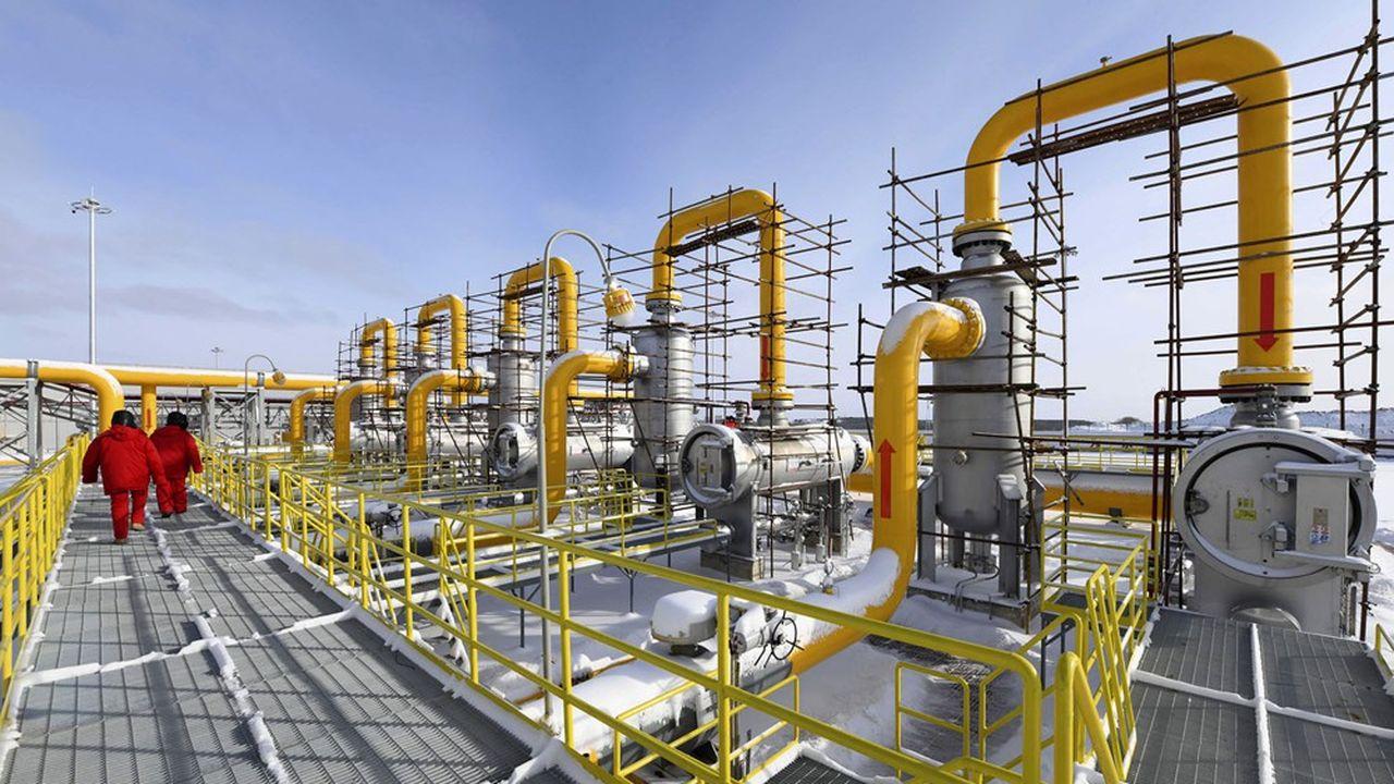 Installations gazières de Gazprom. Le géant russe montre ses muscles, fort d'une part de marché proche de 40% pour l'approvisionnement gazier du Vieux Continent.