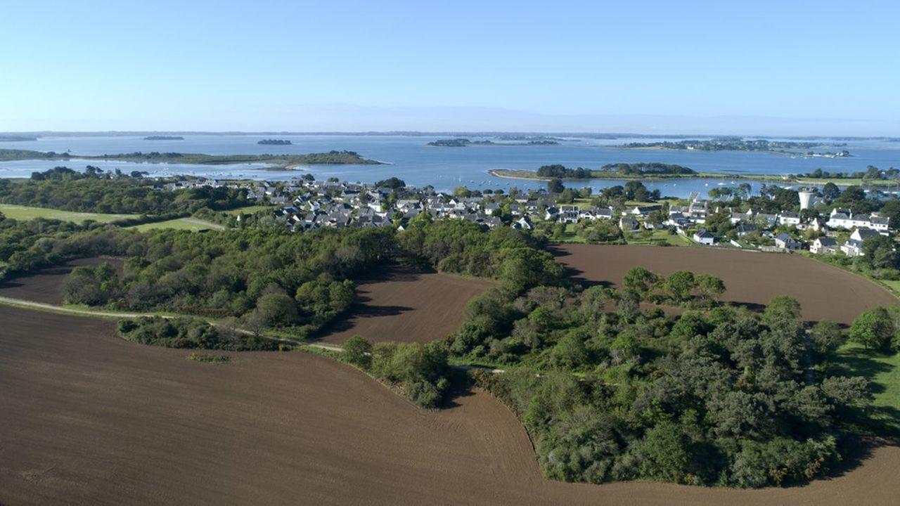 A l'île d'Arz, il n'existe aucune poubelle extérieure.