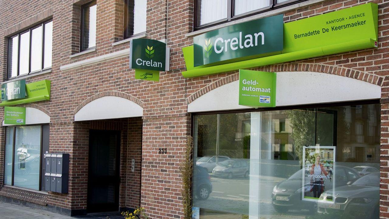 Crelan Banque compte quelque 500 agences en Belgique.