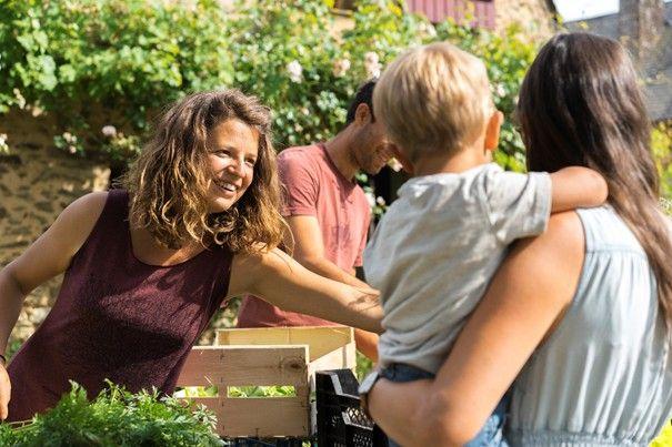 «Nous vendons nos paniers de légumes bio à la ferme et dans un petit village voisin.»
