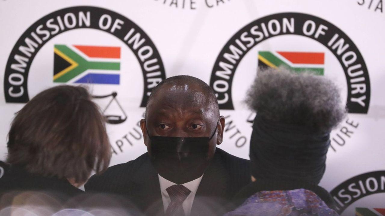 Le président sud-africain a comparu mercredi devant la Commission du juge Zondo à Johannesbourg, qui enquête sur les faits de corruption au sein de l'ANC.