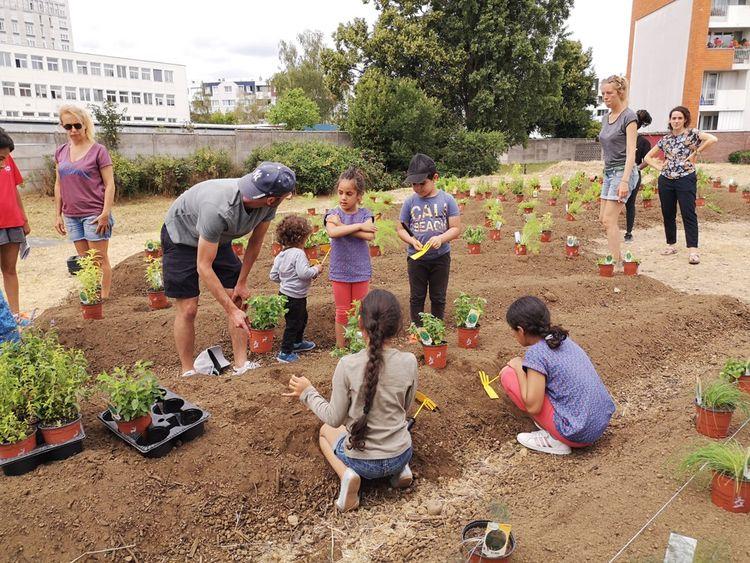 Outil d'inclusion sociale, l'agriculture urbaine fleurit partout en Ile-de-France, comme ici à Stains (93).