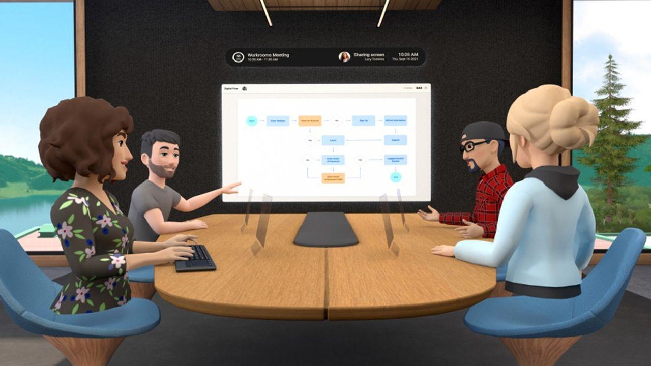 Une salle de réunion peut accueillir jusqu'à 50utilisateurs en même temps, dont 16 avec un casque de réalité virtuelle.