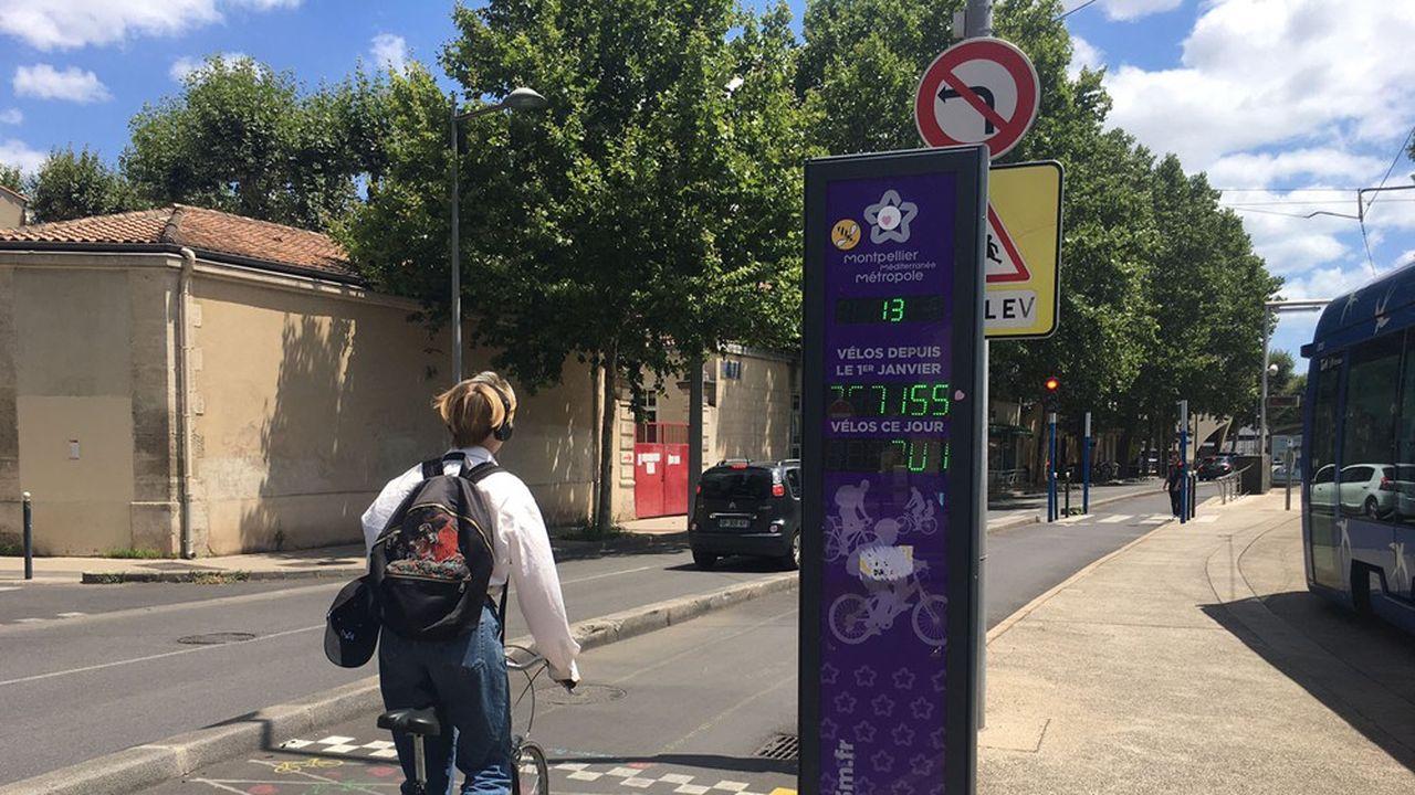 Les 8 bornes qui notifient le nombre de passages quotidiens font état «de deux ou trois fois plus de cyclistes».