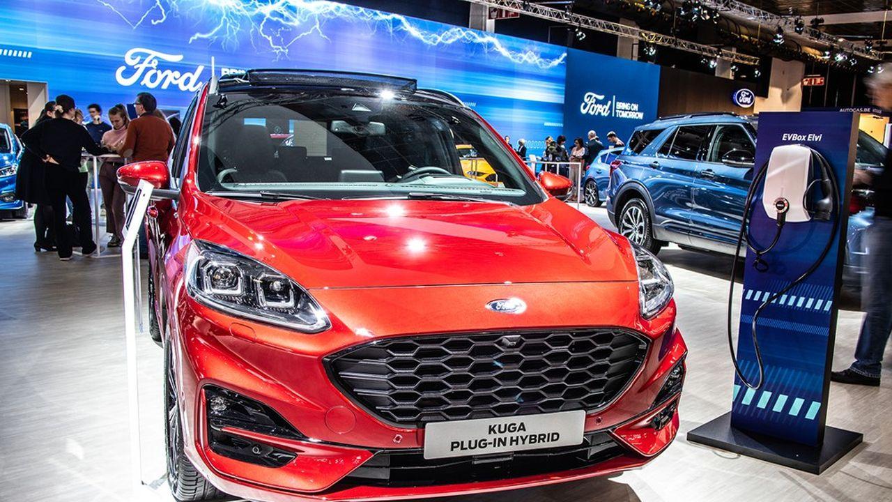 Selon Ford, près de la moitié de la distance parcourue par ses Kuga hybrides rechargeables l'a été en mode 100% électrique.