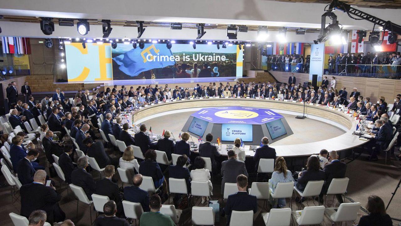 Les déclarations de soutien à l'intégrité territoriale de l'Ukraine se sont multipliées ce lundi lors de la « Plateforme Crimée » organisée par Kiev.