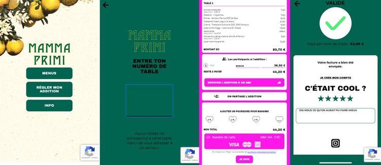 L'application est disponible dans tous les Big Mamma, en voici un exemple dans celui du 17e arrondissement de Paris.
