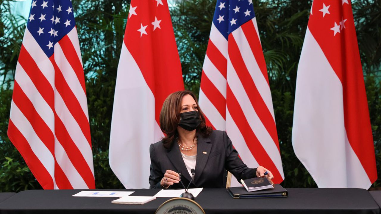 Arrivée dimanche à Singapour, Kamala Harris doit se rendre ensuite au Vietnam.