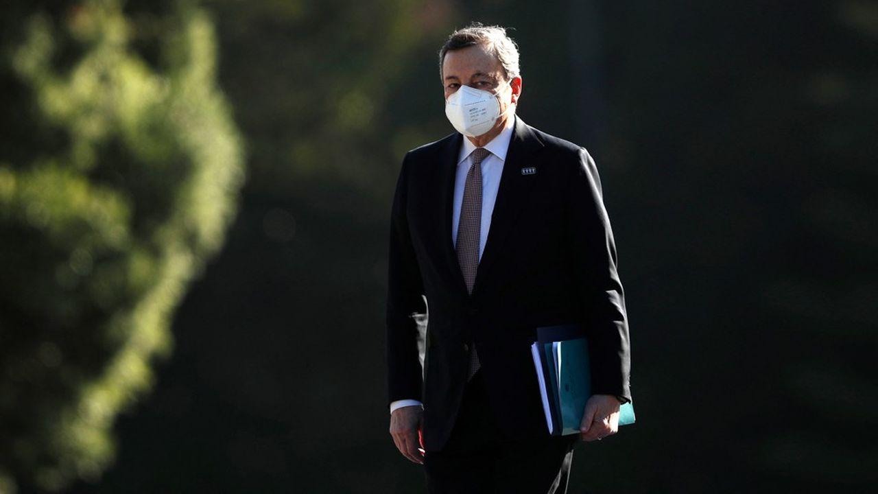 Le Premier ministre italien, Mario Draghi, au Sommet social européen en mai2021.