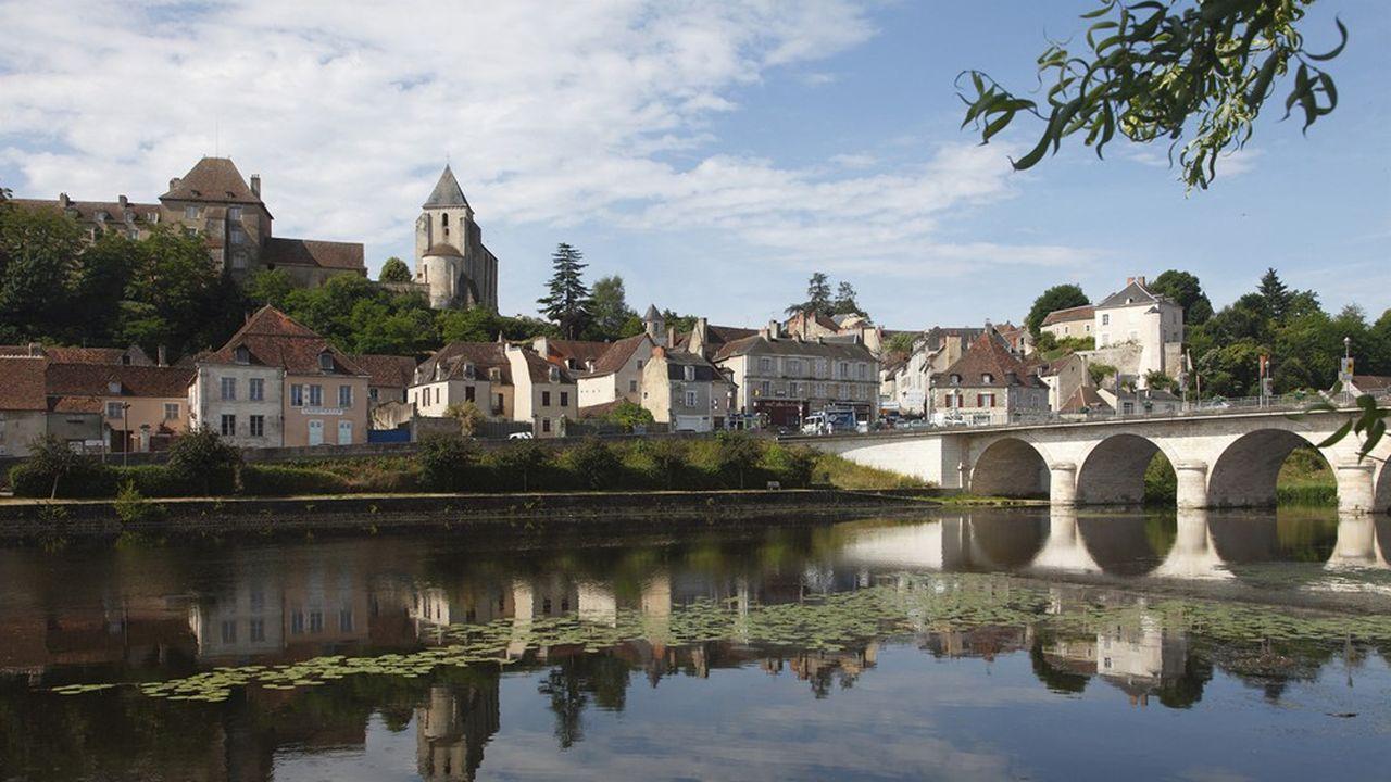 Le Blanc, petite ville de la Brenne.