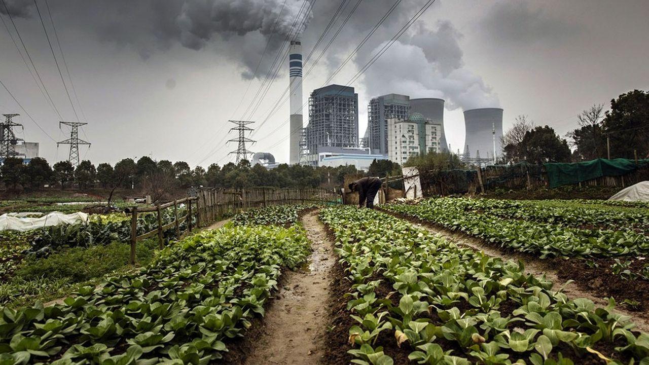Centrale à charbon en Chine, province de l'Anhui. En Chine, l'éolien et le solaire ont progressé, mais pas autant que le charbon.