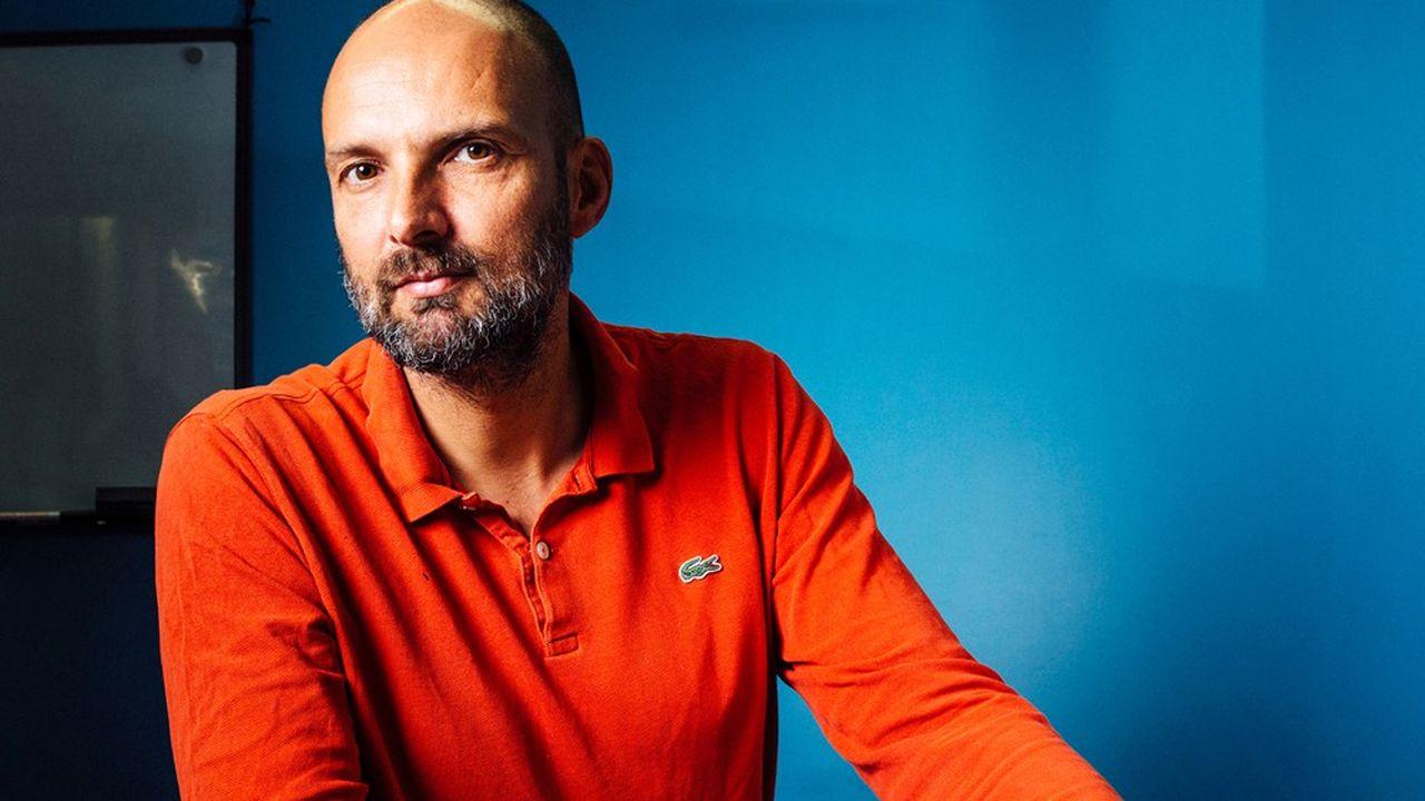 David Lorrain, fondateur de RecycLivre, dans ses bureaux, a Paris, le 5juillet 2021.