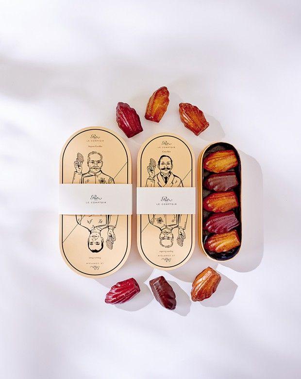Coffrets de madeleines de la pâtisserie du «Ritz».