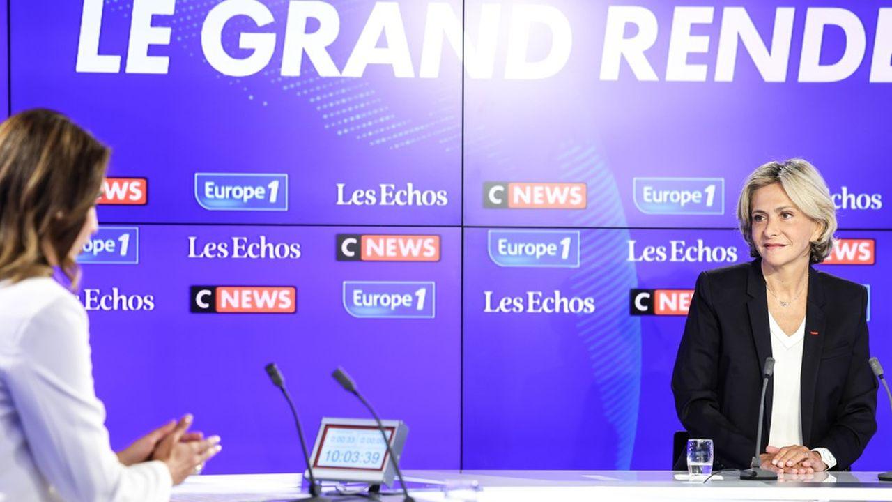 Valérie Pécresse, présidente de la région Ile-de-France, était dimanche l'invitée du Grand Rendez-Vous Europe 1 - CNews - «Les Echos».