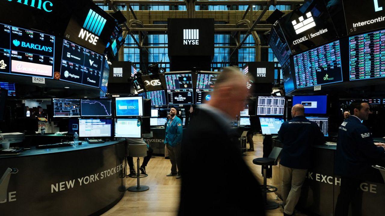 Des traders au New York Stock Exchange.