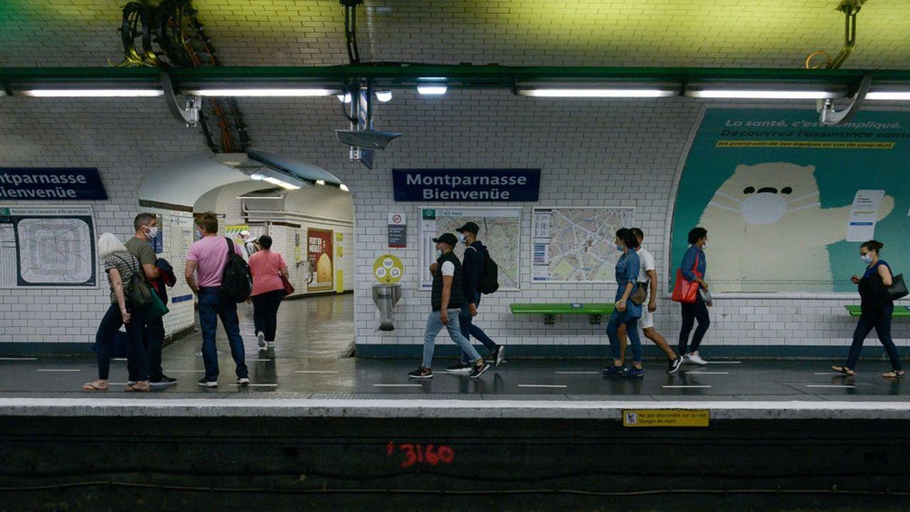 Pendant l'été, l'absence de touristes étrangers s'est fait sentir dans le trafic global de la RATP.