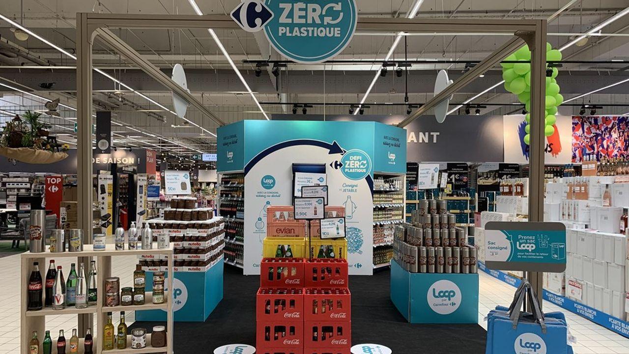 Carrefour veut introduire la consigne dans 500 magasins.