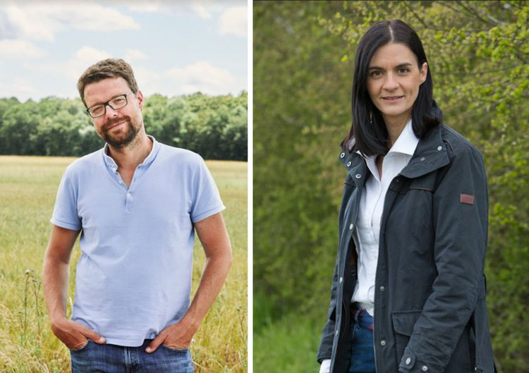 Francis Nappez, 42 ans, le directeur général d'Hectar et la co-fondatrice Audrey Bourolleau, 40 ans, ex-conseillère d'Emmanuel Macron.