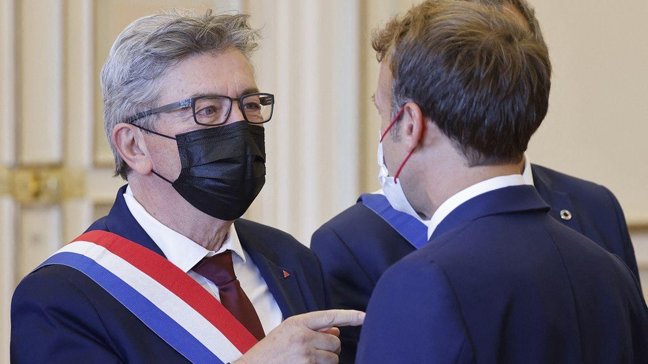 Jean-Luc Mélenchon et Emmanuel Macron ont eu un échange animé avant une réunion mercredi à Marseille.