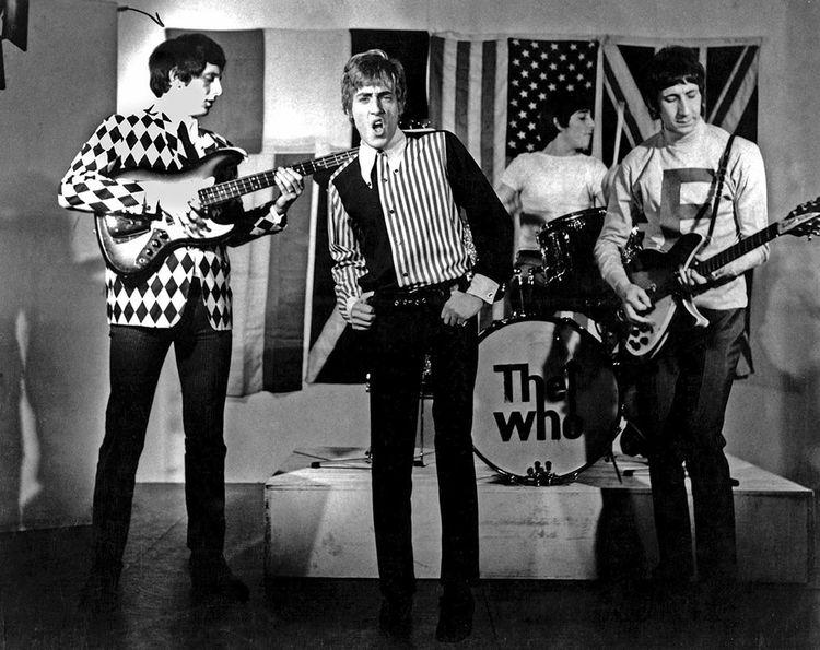 Le groupe de rock britannique The Who avec John Entwistle, Roger Daltrey, Keith Moon, Pete Townshend, vers 1965.