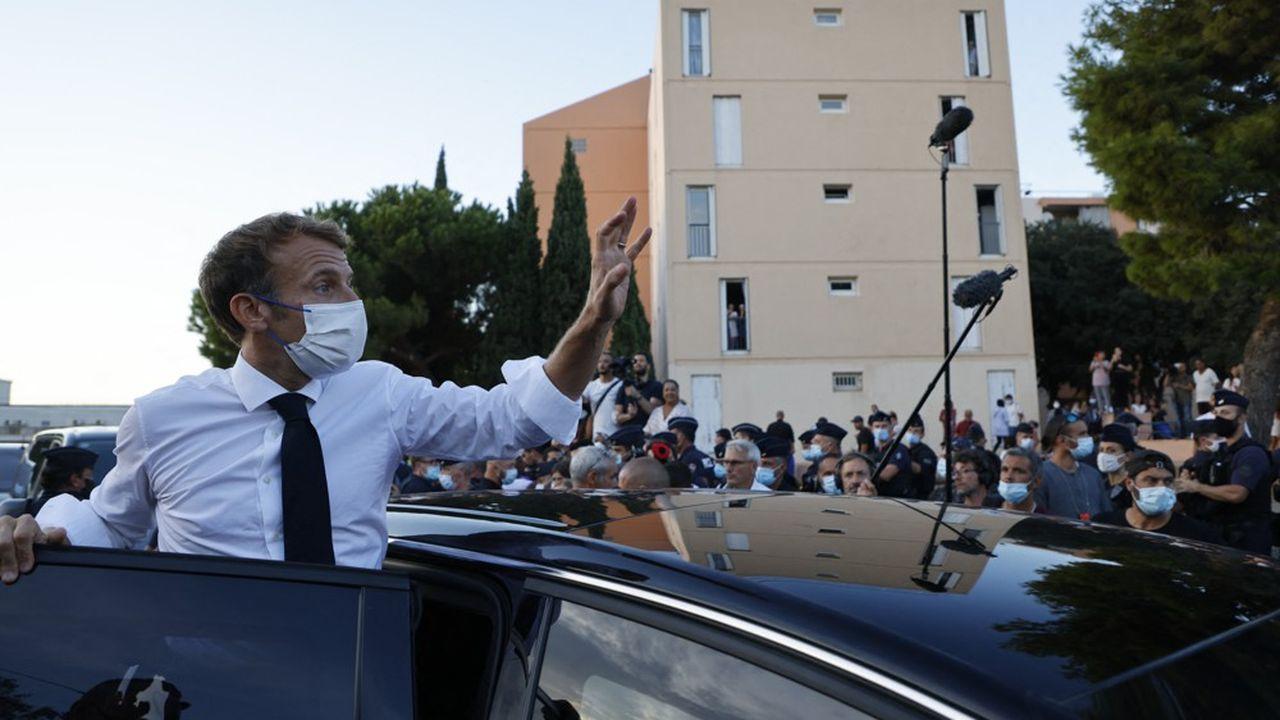 Emmanuel Macron, à Marseille, le 1er septembre 2021.