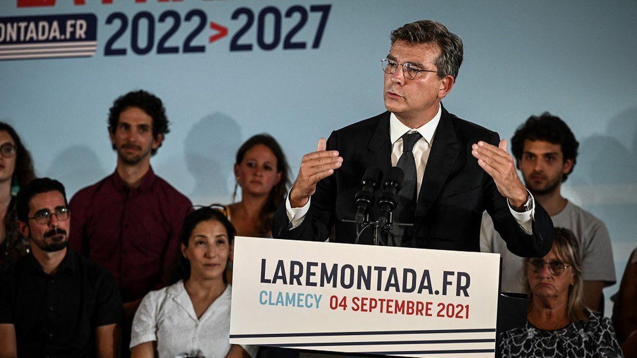 Arnaud Montebourg a annoncé sa candidature devant quelques centaines de partisans.